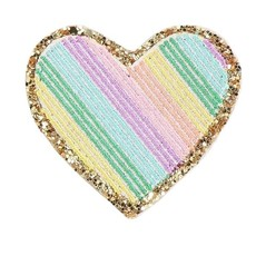 Rainbow Heart Adhesive Patch