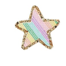Rainbow Star Adhesive Patch