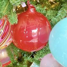 120mm METALLIC MARBLE GOLD GLASS Bubblegum Ornament