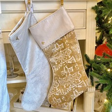 Ruins gold patterned  Stocking - with cuff