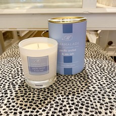 83-12194 Pacific Orchid and Sea Salt Glass Candle Gift Boxed