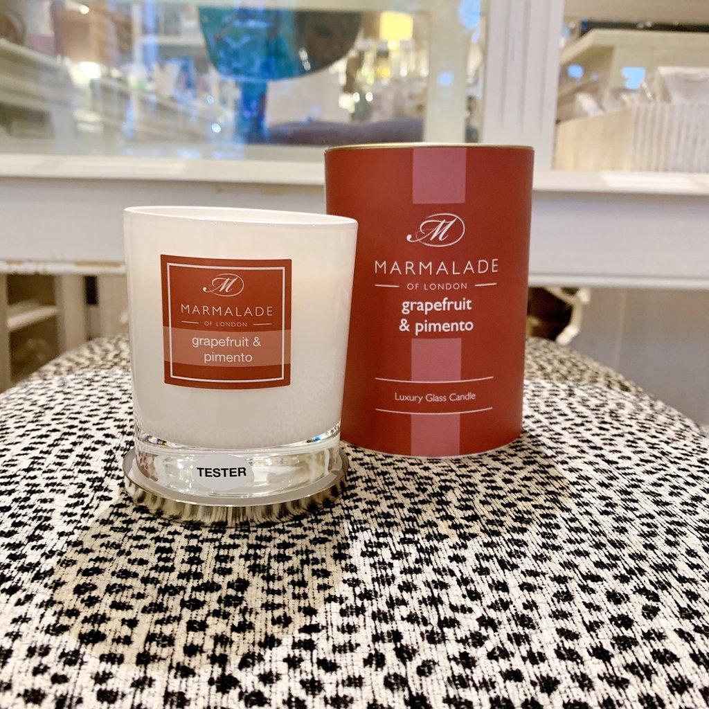 83-11388 Grapefruit & Pimento Glass Candle