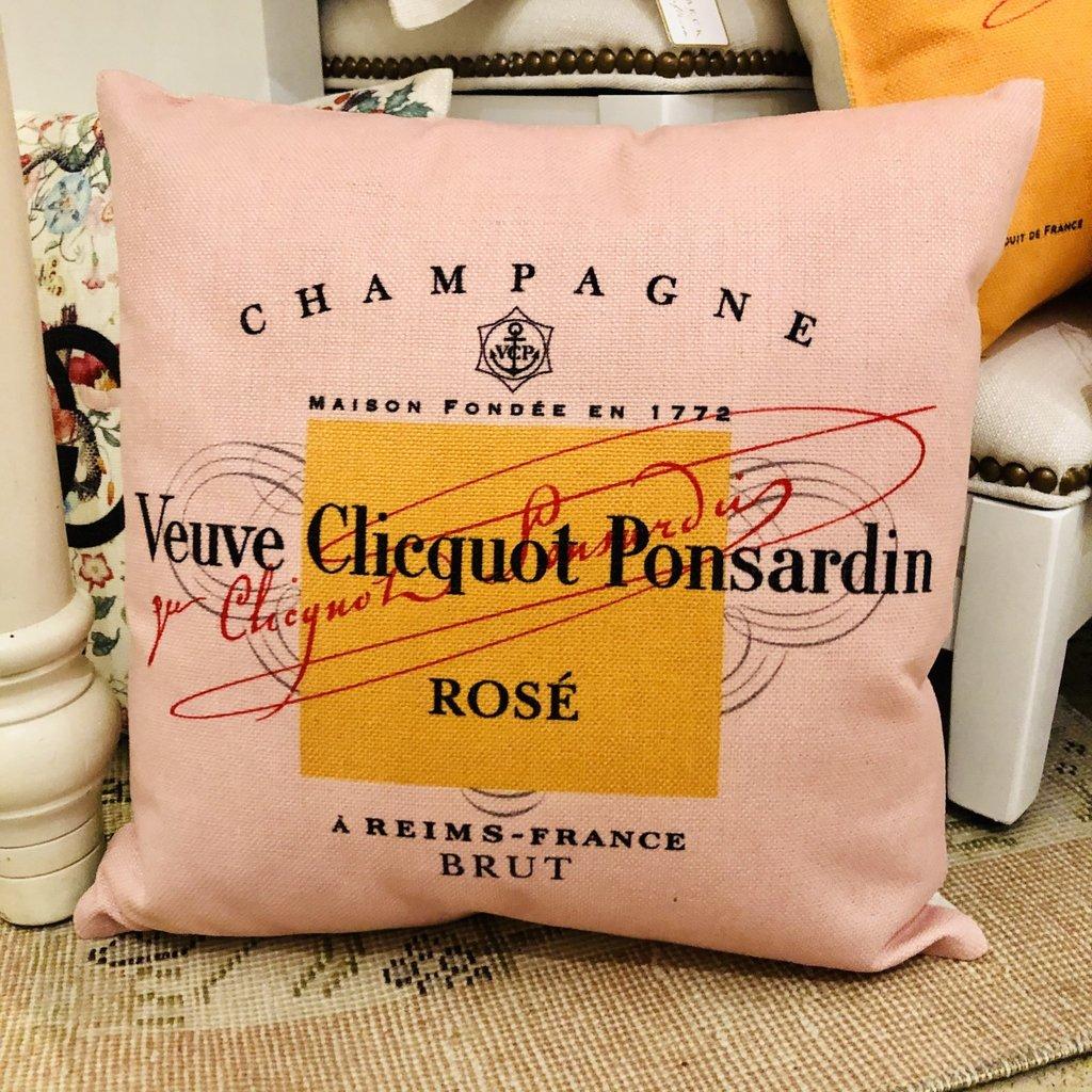 Blush Veuve Rose Pillow