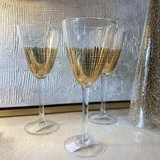 ch-4318 - gold crosshatcg wine glass