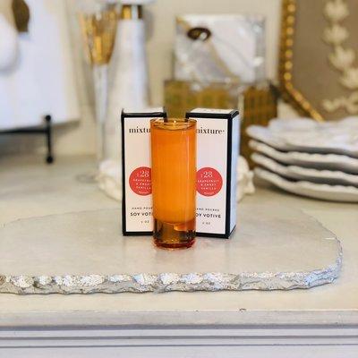 26128TANGERINE - No 28 2oz Grapefruit & Sweet Vanilla Votive Tangerine