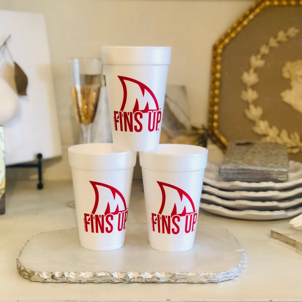Ole Miss - RED Fins Up Cups