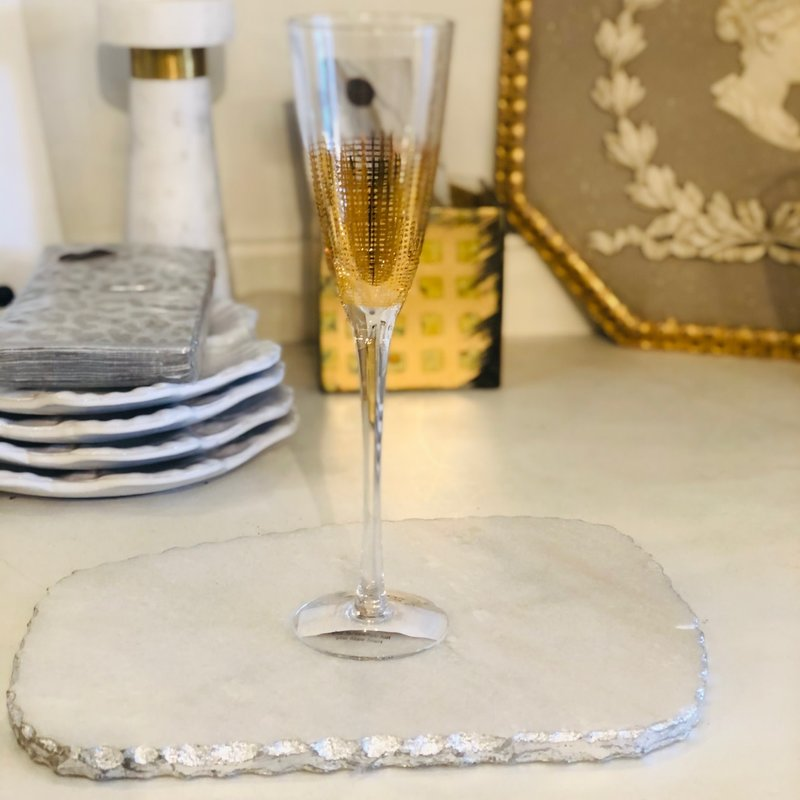 CH-4317 - Gold Crosshatch Champagne Flute