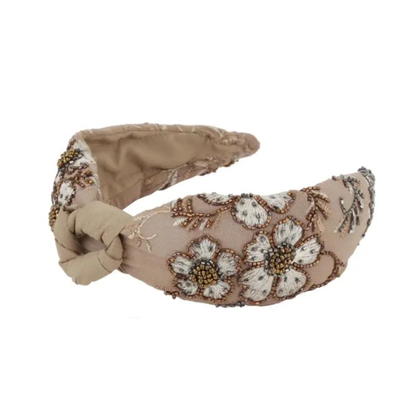 Neautral flower headband