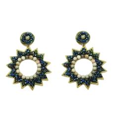 Emerald star burst earrings