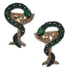Snake + Cocktail earrings