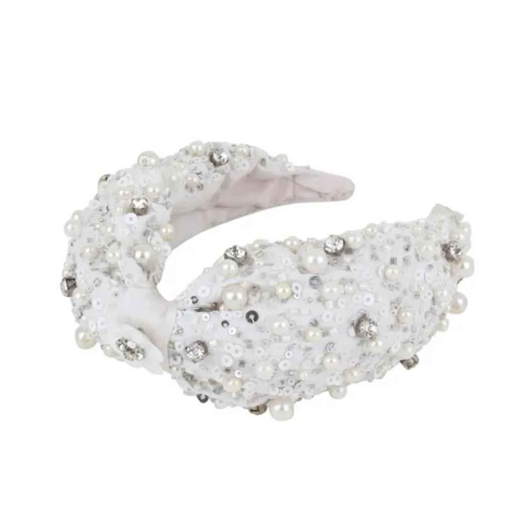 Embellished pearl headband