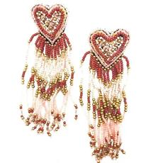 Heart + Tassel Earrings