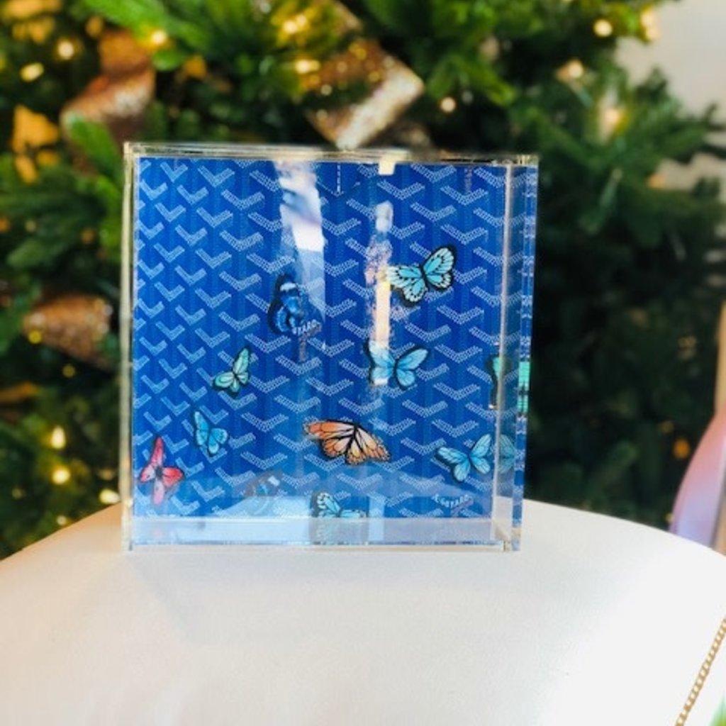 Goyard butterfly lucite tray (8 x8)