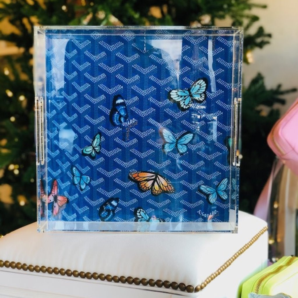 Goyard butterfly (12 x 12) Lucite tray