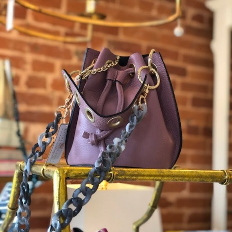 Leather bag-light pink gf0441
