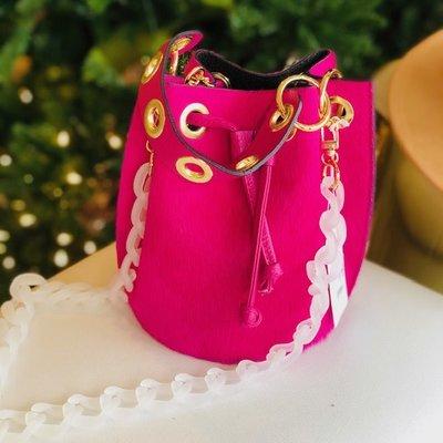 GF0445 Leather bag-hot pink