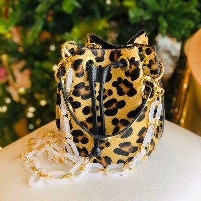 GF0445 Leather bag-leopard