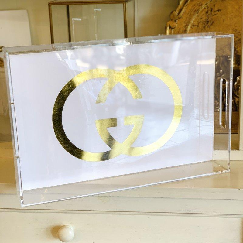 Gucci in Gold Foil 11x17 tray