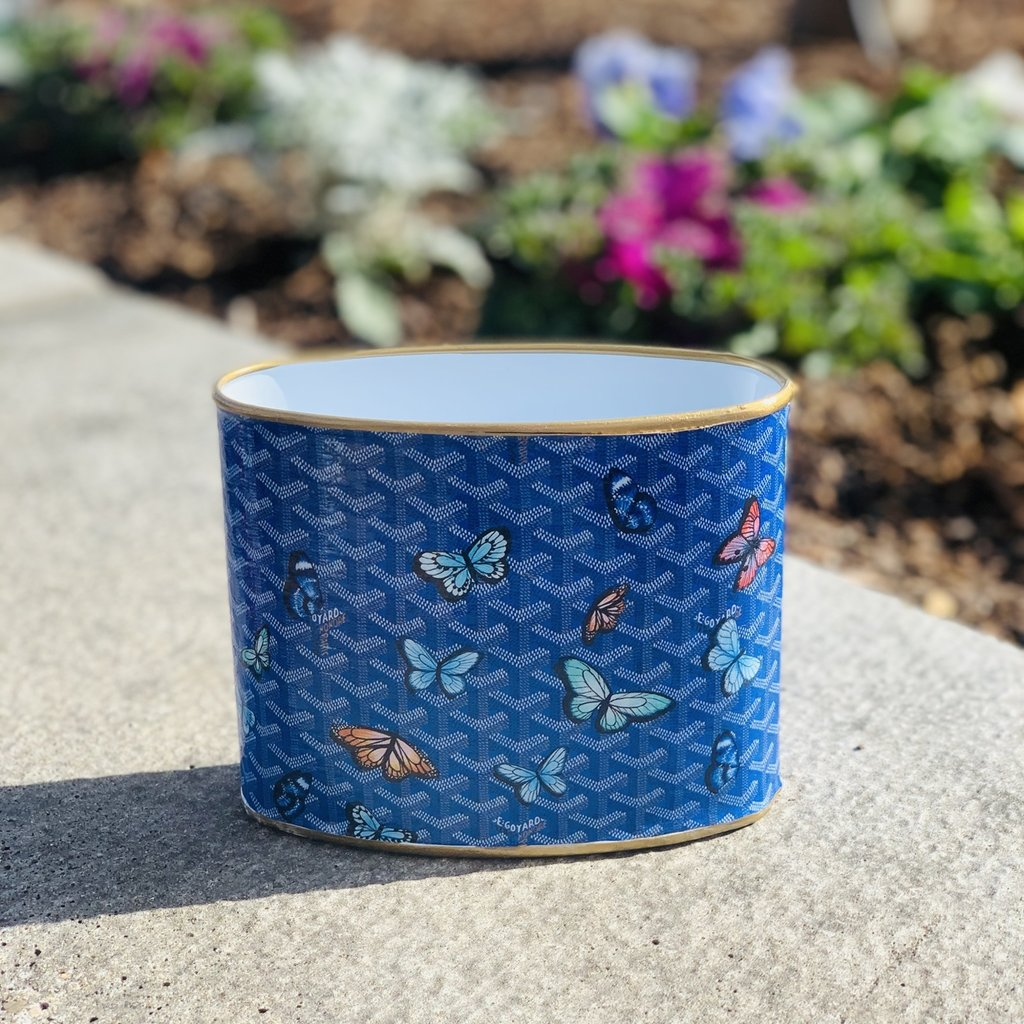 Goyard Blue Butterfly PETITE Makeup Cup