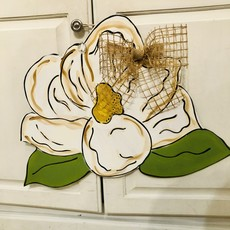 Wooden Magnolia Door Hanger
