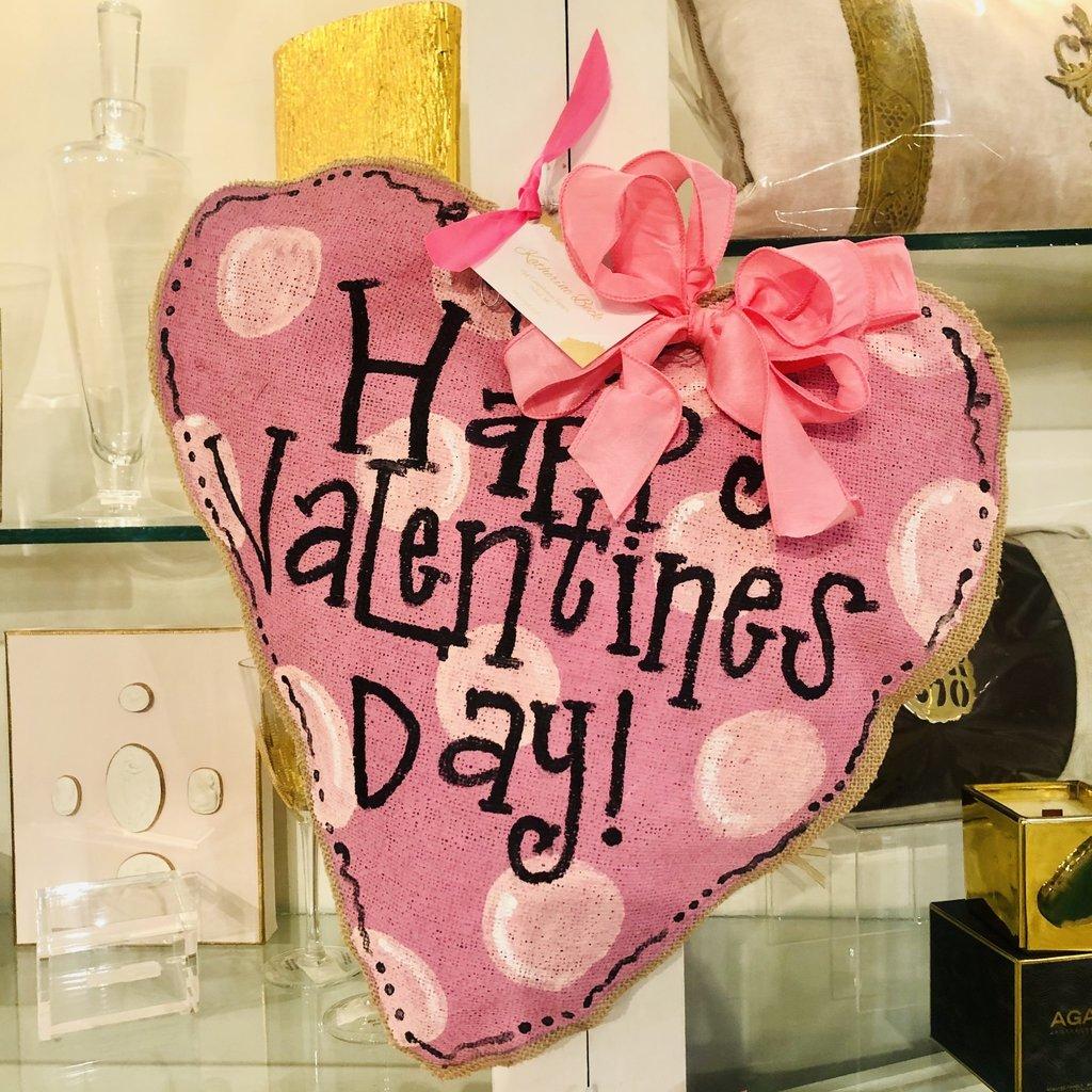 Pink Dot Valentine Door Hanger