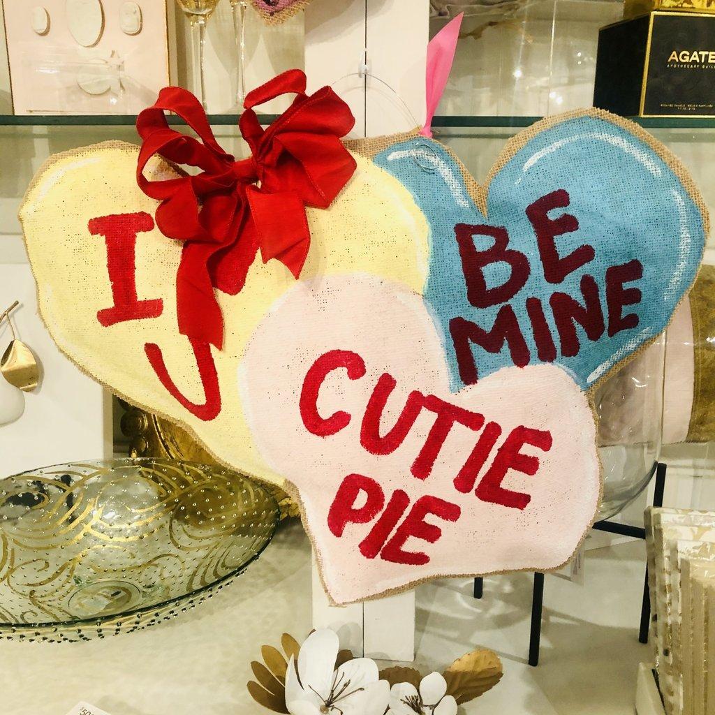 Candy Hearts Door Hanger