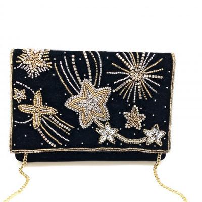Starry Night Velvet Clutch