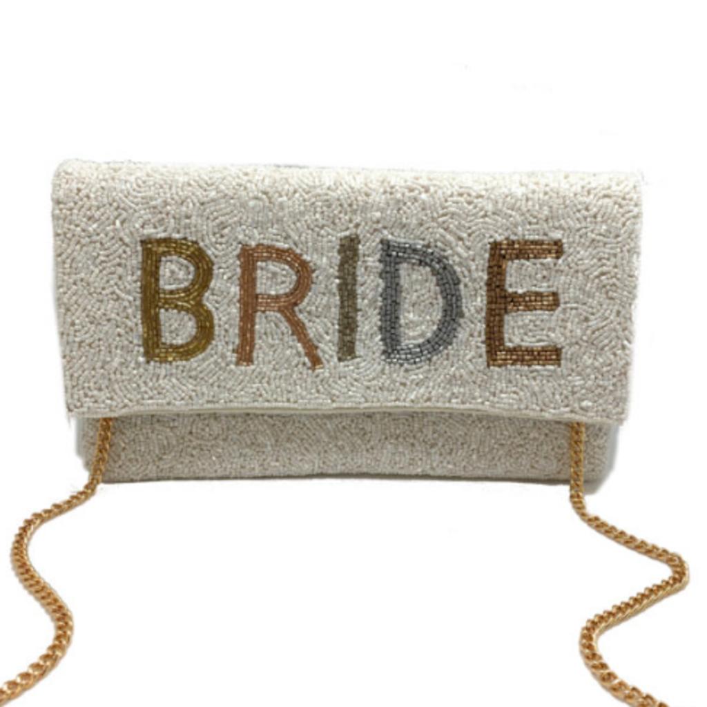 Tonal Beaded Bride Fold Over Lac-ss-404