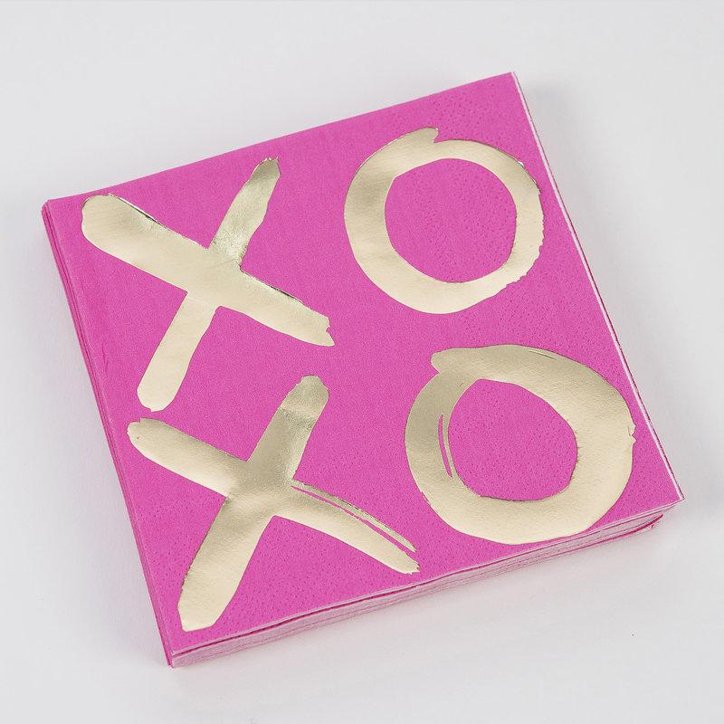 XOXO Hot Pink Napkins