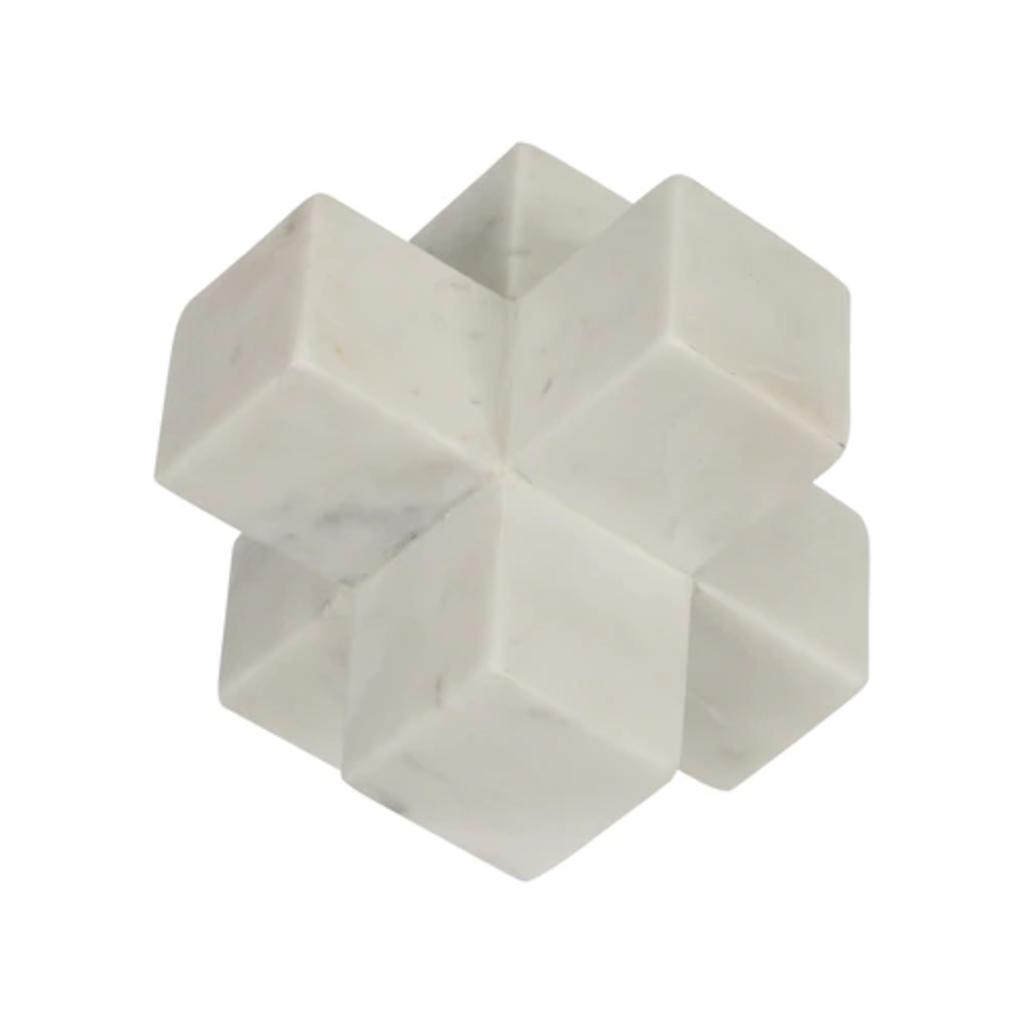 15225-01 Marble 7 Jack Deco White