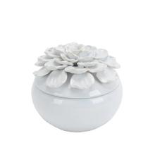 12737-03 Ceramic covered 7 jar w/ pearl trim