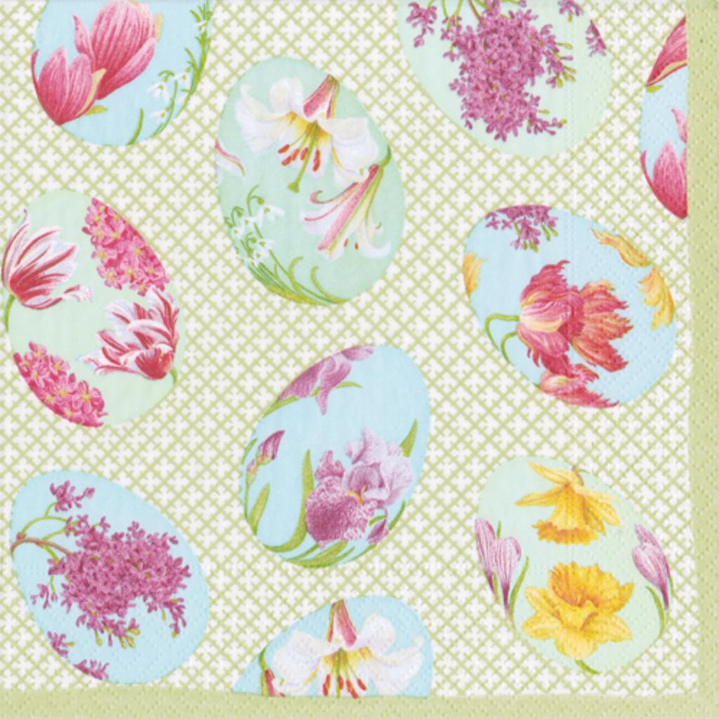 15690c floral decorated eggs cocktail napkins