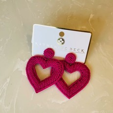 EP19138-003 BEADED HEART EARRINGS