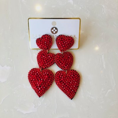ep30545-004 triple heart bead earrings