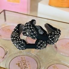 cc38100-001 black flower and bead headband