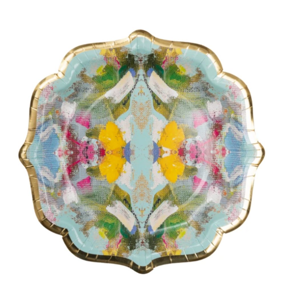Poppy blue cocktail plates