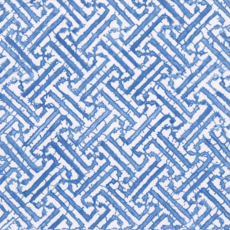 Fretwork blue cocktail napkin