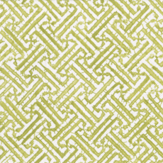Fretwork moss green cocktail napkin