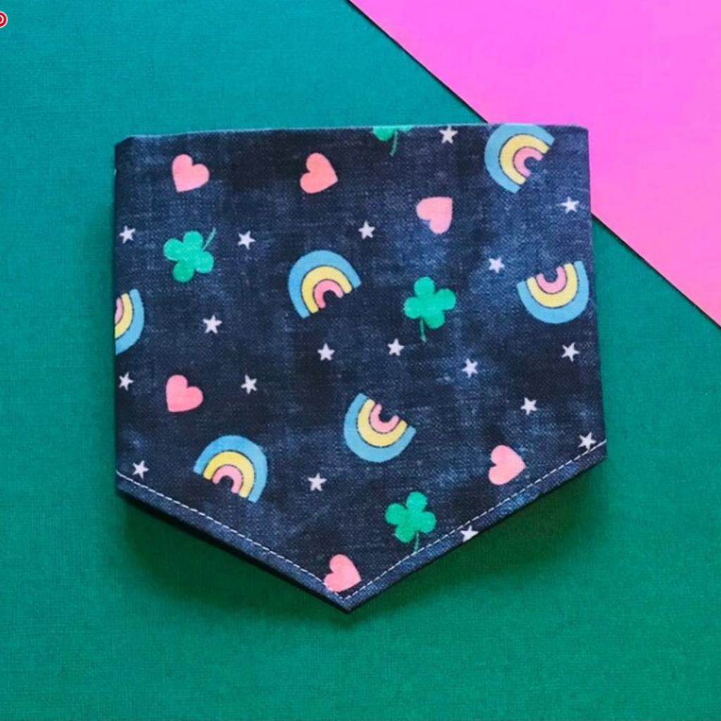 Lucky charms dog bandana - medium