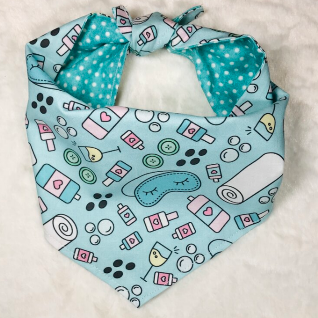 Spa Day Dog Bandana - large