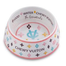 HDD-200 White Chewy Vuiton dog bowl