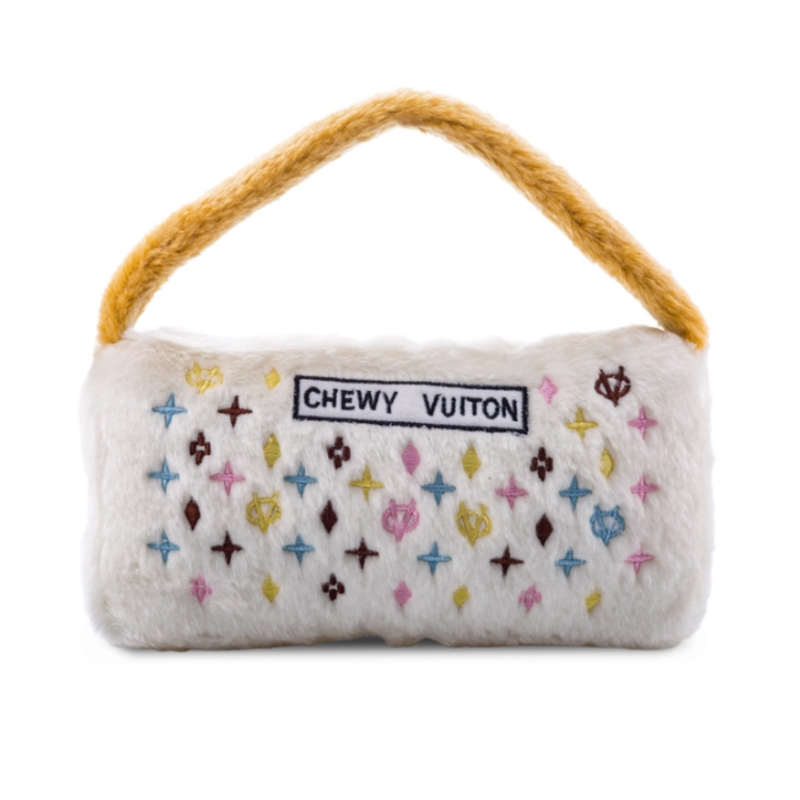 HDD-033-XL White Chewy Vuiton Purses
