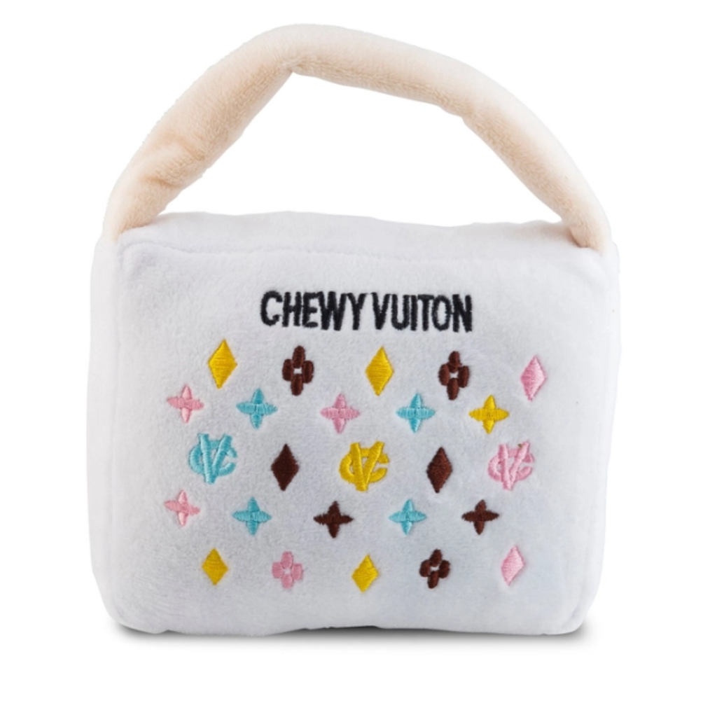 HDD-033-LG White chewy vuiton purses - large