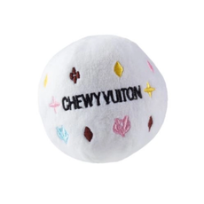 HDD-076-SM White Chewy Vuiton ball - small