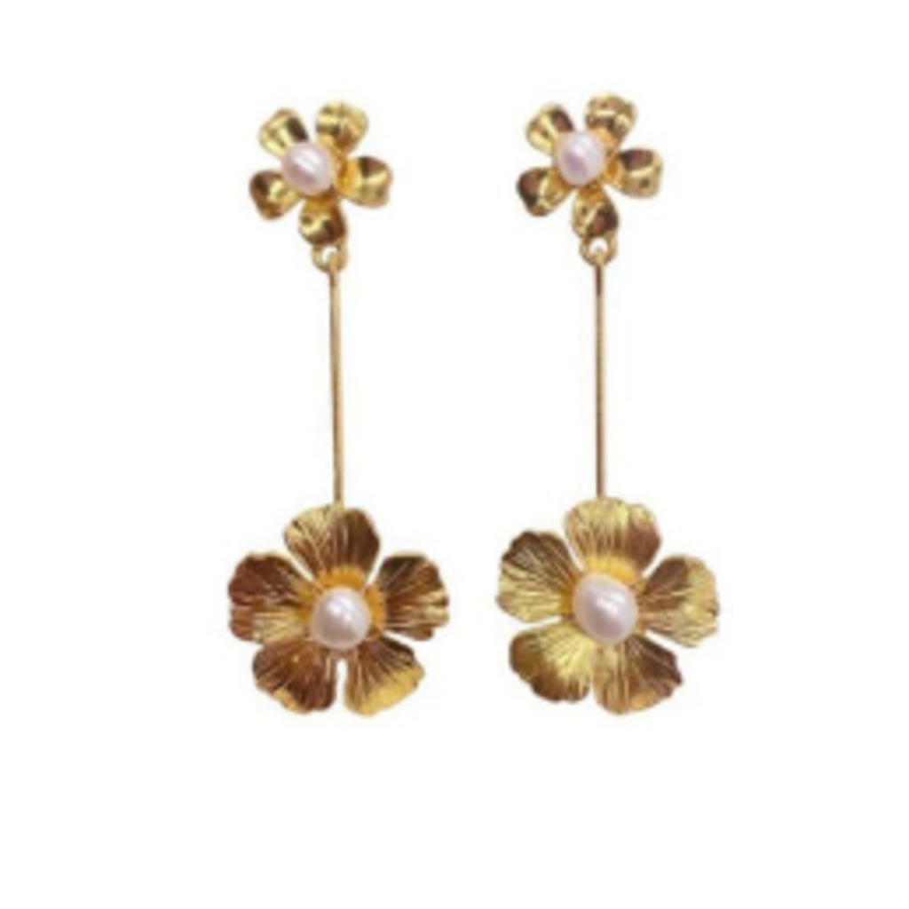 BRI001 Floral Drop Earring