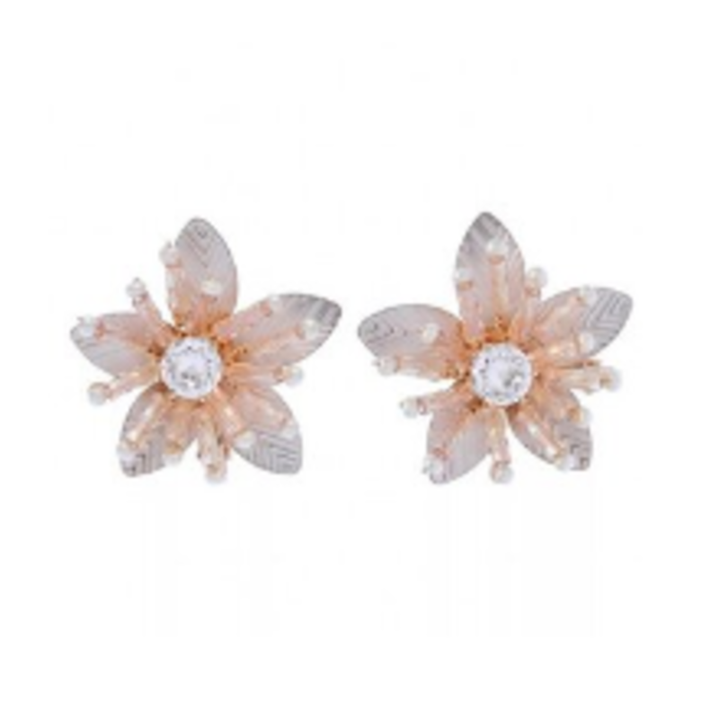 BRI012 Shimmer Stud Rose Earring