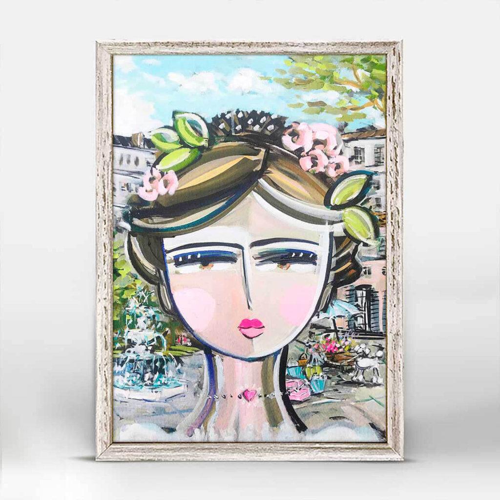 She is Fierce - City - mini canvas