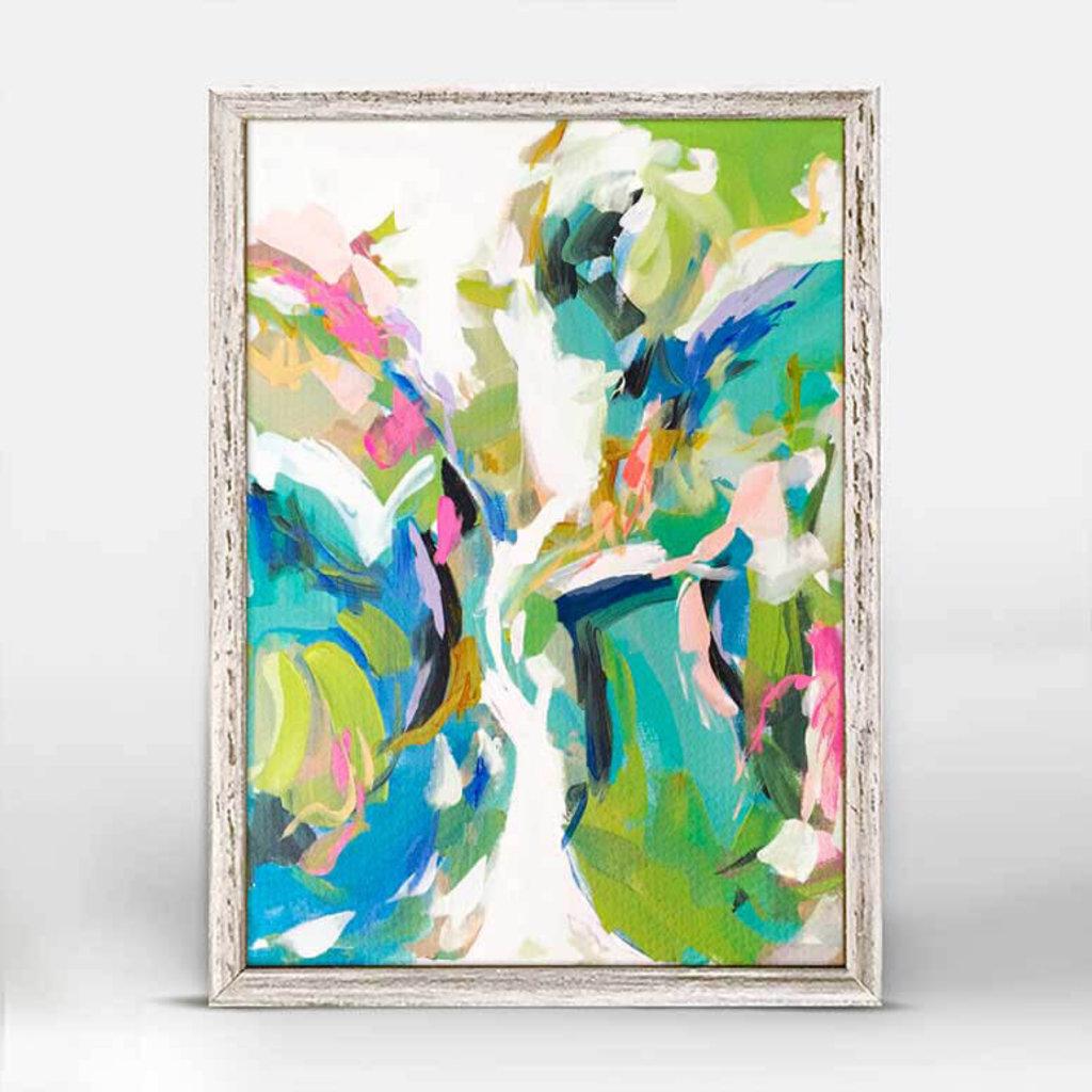 Lark Abstract mini framed canvas