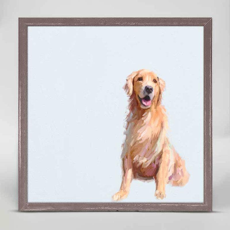 Best Friend - Sunning golden mini framed canvas