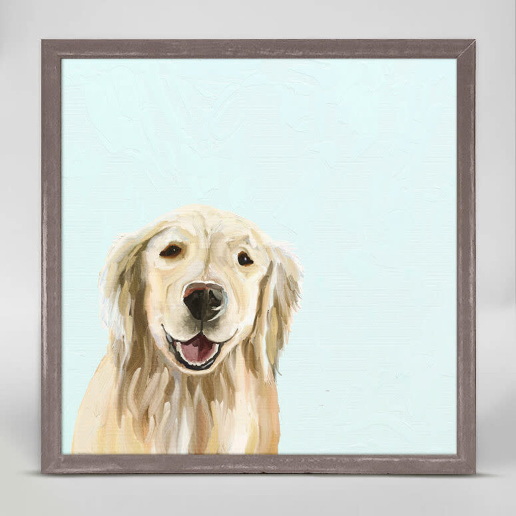 Best Friend-Blonde Retriever Mini Canvas